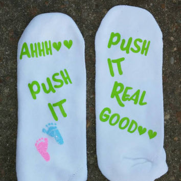 Labor and Delivery Socks, Push Socks, Maternity Socks, Pregnancy Socks