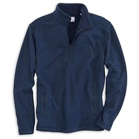 Samson Peak 1/4 Zip Sweater Fleece in True Navy by Southern Tide