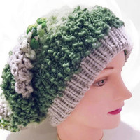 Knit Hat, Slouchy Hat, Beanie Hat, Pom Pom Hat, Green Hat, Gray Hat, White White, Brown Hat, Beige Hat, Colorful Hat, Winter Hat, Chunky Hat
