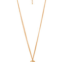 FOREVER 21 Heirloom Faux Gemstone Necklace Gold/Rose One