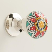 Painted Ceramic Doorknob