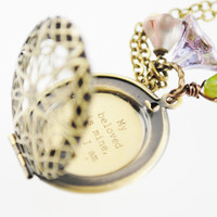 Song of Solomon 2:16 - Women's Quote Locket - My beloved is mine, and I am his...