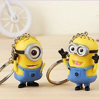 Promithi 2pcs Despicable Me Minion Toy Rubber Keychain