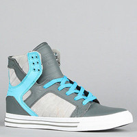 The Skytop Sneaker in Grey Cyan Smooth Action Leather : Supra : Karmaloop.com - Global Concrete Culture