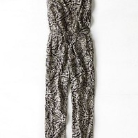 AEO Women's Printed Jumpsuit (Black)