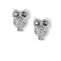 Crystal Owl Stud Earrings | Claire's