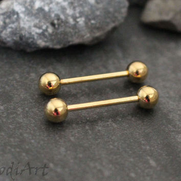 Golden 14G Straight Barbell