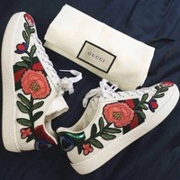 Gucci Fashion Embroidered Low-Top Old Skool Sneaker Shoes