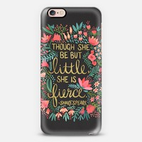 Little & Fierce on Charcoal iPhone 6s case by Cat Coquillette | Casetify