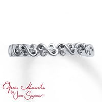 Open Hearts Ring Sterling Silver
