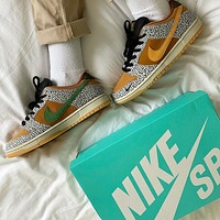"Nike SB Dunk Low ""Safari"" casual skateboard shoes"