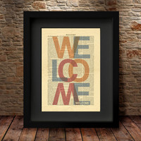 Welcome Art Print, Wall Art Poster, Home Decor, Welcome Home Print, Welcome home, Art Print Poster, wall hanging, rustic home decor -69