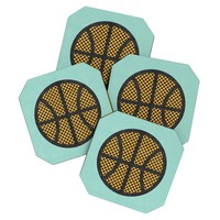Nick Nelson Op Art Basketball Coaster Set