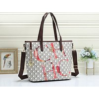 CH sells casual lady's single-shoulder bag with all the letters shopping printed  #4