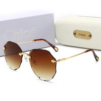 Chloe Fashionable Women Summer Sun Shades Eyeglasses Glasses Sunglasses Brown