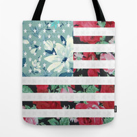 US Flowers Tote Bag by Evan Smith