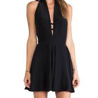 Black Halter Backless Dress