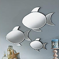 3-piece Neptune Fish Mirrors