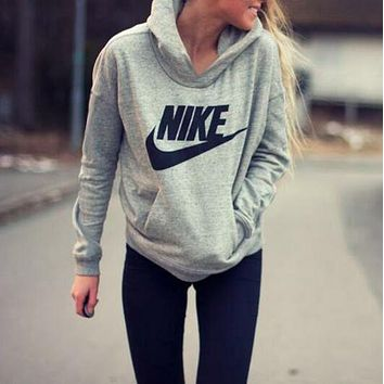 NIKE Hooded Top Sweater Pullover Sweatshirt