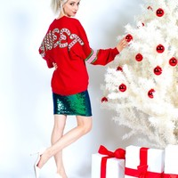 Sweet - Light Weight, Holiday Spirit Jersey® with Ribbed Hem