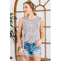 Obsessed With The Basics Acid Wash Tank Top