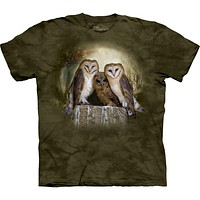Owl Trio in Front of Moon T-Shirt