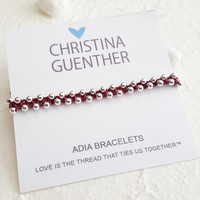 ADIA Bracelets - Friendship Bracelets, One Boho Hand crafted Bracelet, Adjustable Size, Handmade USA Christina Guenther