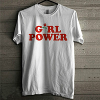 Girl Power Rose Shirt Tee Simple Cute Kawaii 90s Grunge
