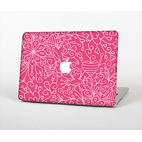 """The Pink & White Abstract Illustration V3 Skin Set for the Apple MacBook Air 11"""""""