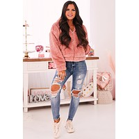 I Loved You First Faux Fur Jacket (Blush)