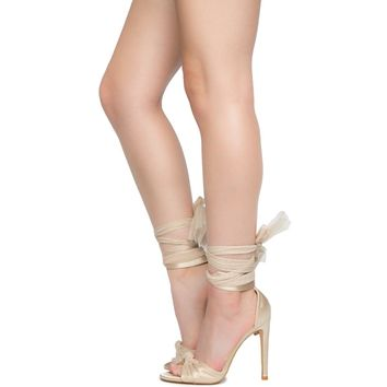 Cape Robbin Alza-68 Women's Nude High Heel