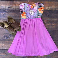 Lavender and Roses Party Dress