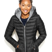 Nautica Reversible Hooded Quilted Packable Puffer Coat