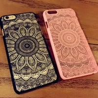 Lace Sunflower Case Cover for iPhone 7 7Plus & iPhone 6s 6 Plus +Gift Box