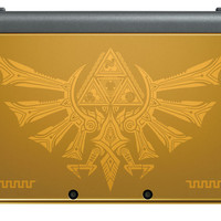 Nintendo New 3DS XL - Hyrule Gold Edition with The Legend of Zelda: Triforce Heroes