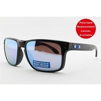 NEW Oakley Holbrook 9102-C1 Polarized Sports Surfing Fishing Golf Sunglasses