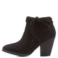 Black Braided Tassel Booties by Dollhouse at Charlotte Russe