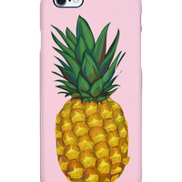 Uncommon Women's Pineapple Painting iPhone 6 Plus SS Deflector Case