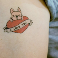 Tattoo Stickers: Bulldog Love (8 patterns)