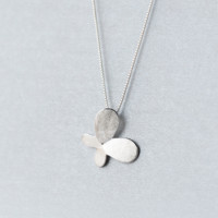 Brushed butterfly necklace+ Gift box ALQ1024N
