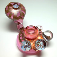 Glass Pipe, Chad G Dry Sherlock, Electroformed, Electroplated Glass PIpe with Marbles, Cgge Team, OOAK, Ready for Shipping