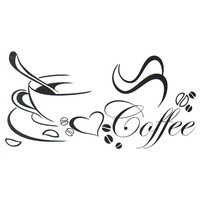 Newly designed Coffee cup for home/kitchen stickers waterproof and removable wall decor