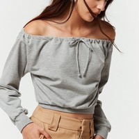 Project Social T Jemma Off-the-Shoulder Sweatshirt | Urban Outfitters