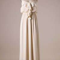 Ruffle Maxi Dress - Ivory