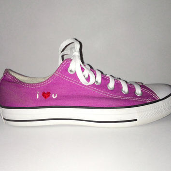 Hand Embroidered Custom Hand Embroidery Converse
