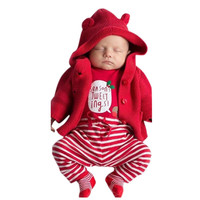 Baby Girls Bodysuit Clothes Set Long Sleeve Christmas Costumes Newborn Outfit Clothing