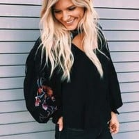Free People Lita Embroidered Top