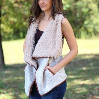 Love Tree Faux Fur Shag Vest