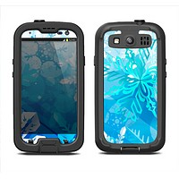 The Winter Abstract Blue Samsung Galaxy S3 LifeProof Fre Case Skin Set
