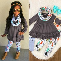 3PCS Toddler Girls Autumn Xmas Outfit